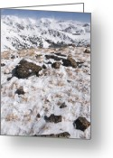 Mountain Summit Greeting Cards - Rocky Greeting Card by Ryan Heffron