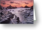 Rural Landscapes Greeting Cards - Rocky Shore at Hartland Quay Greeting Card by Richard Garvey-Williams