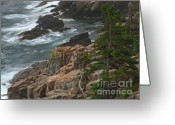 Ocean Path Greeting Cards - Rocky Shoreline of Acadia National Park Greeting Card by Juergen Roth