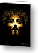Religious Artist Digital Art Greeting Cards - Rococo Jesus Design Greeting Card by One Nation Under God