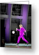 Hollywood Bowl Greeting Cards - Rod Stewart Soccer Ball Greeting Card by April Reppucci