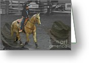 Bronc Greeting Cards - Rodeo Royalty III Greeting Card by Al Bourassa