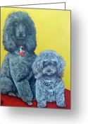 Royal Gamut Art Greeting Cards - Roger and Bella Greeting Card by Tom Roderick