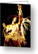 Loud Greeting Cards - Roger Daltrey Greeting Card by Dean Caminiti
