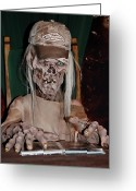 Ghoul Greeting Cards - Rogue Hunter  Tales From the Trip Greeting Card by DigiArt Diaries by Vicky Browning
