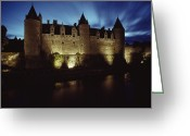 Medieval Architecture Greeting Cards - Rohan Castle, Occupied By The Rohan Greeting Card by James L. Stanfield