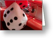 Dash Greeting Cards - Roll of the Dice Greeting Card by Richard Mansfield