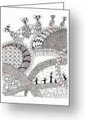 Paula Dickerhoff Greeting Cards - Roller Coaster Greeting Card by Paula Dickerhoff
