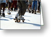 Old Skates Greeting Cards - Roller skates Greeting Card by Emanuel Tanjala