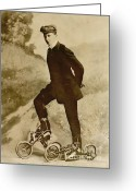 Skates Greeting Cards - Roller Skating Greeting Card by Padre Art