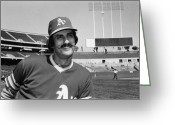Athlete Greeting Cards - Rollie Fingers (1946- ) Greeting Card by Granger