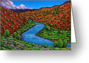Southwest Greeting Cards - Rolling Rio Grande Greeting Card by Johnathan Harris