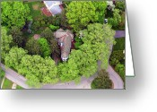 Chestnut Hill Wyndmoor Blue Bell Aerial Photographs Greeting Cards - Rolling Road Bala Cynwyd Pennsylvania Greeting Card by Duncan Pearson