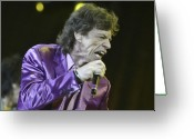 Live Music Greeting Cards - Rolling Stones Ii Greeting Card by Rafa Rivas