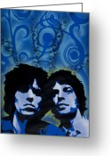 Spraypaint Greeting Cards - Rolling Stones Greeting Card by Iosua Tai Taeoalii