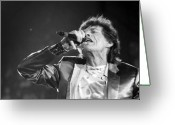 Live Music Greeting Cards - Rolling Stones Xii Greeting Card by Rafa Rivas