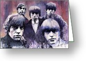 Rolling Stones Painting Greeting Cards - Rolling Stones  Greeting Card by Yuriy  Shevchuk
