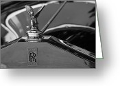 Antique Automobile Greeting Cards - Rolls Royce Greeting Card by Dennis Hedberg