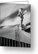Car Mascot Greeting Cards - Rolls-Royce Hood Ornament 2 Greeting Card by Jill Reger