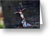 Jesus Christ Icon Photo Greeting Cards - Roman and Crucifix Greeting Card by Susan Isakson