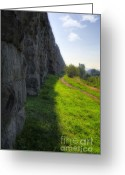 Construction Greeting Cards - Roman Aqueducts Greeting Card by Joan Carroll