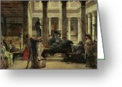 Greek Sculpture Painting Greeting Cards - Roman Art Lover Greeting Card by Sir Lawrence Alma-Tadema