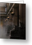 Abbot Greeting Cards - Roman Baths Greeting Card by Amanda Barcon