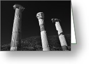 Eastern Turkey Greeting Cards - Roman Columns. Greeting Card by Terence Davis