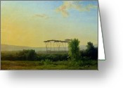 Outskirts Greeting Cards - Roman Countryside Greeting Card by Pierre Henri de Valenciennes