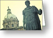 Romans Greeting Cards - Roman Emperor Greeting Card by Joana Kruse