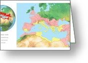 Northern Africa Greeting Cards - Roman Empire, Artwork Greeting Card by Gary Hincks