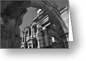 Eastern Turkey Greeting Cards - Roman Library Greeting Card by Terence Davis