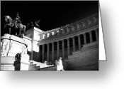 Sculptures For Sale Photo Greeting Cards - Roman Monument Greeting Card by John Rizzuto