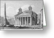 1833 Greeting Cards - Roman Pantheon, 1833 Greeting Card by Granger