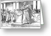 Patrician Greeting Cards - Roman Senate: Catiline Greeting Card by Granger