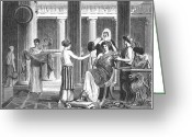 Patrician Greeting Cards - Roman Slaves & Patrician Greeting Card by Granger