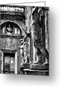 Sculptures For Sale Photo Greeting Cards - Roman Statues Greeting Card by John Rizzuto