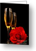Liquid Greeting Cards - Romance Greeting Card by Darren Fisher