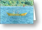 Bay Islands Painting Greeting Cards - Romance on Hussey Sound Greeting Card by Dominic White