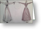 Old Ladies Drawings Greeting Cards - Romance Greeting Card by Sarah Parks