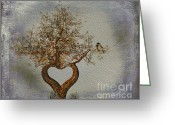 Love Your Tree Greeting Cards - Romance Tree Greeting Card by Cheryl Young