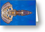 Aimelle Prints Digital Art Greeting Cards - Romano Spaceship - Archifou 73 Greeting Card by Aimelle