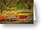 Cheekwood Botanical Gardens Greeting Cards - Romantic Flower Garden  Greeting Card by Cheryl Davis