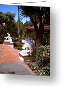 San Simeon Greeting Cards - Romantic Path Greeting Card by Methune Hively
