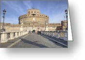 Baroque Greeting Cards - Rome - Castel SantAngelo Greeting Card by Joana Kruse