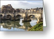 Baroque Greeting Cards - Rome - Ponte SantAngelo Greeting Card by Joana Kruse