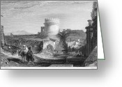 1833 Greeting Cards - Rome: Appian Way, 1833 Greeting Card by Granger