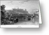 1833 Greeting Cards - Rome: Aventine Hill, 1833 Greeting Card by Granger