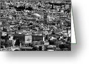 Vatican City Greeting Cards - Rome Cityscape 4 Greeting Card by John Rizzuto