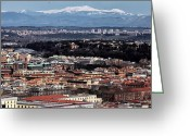 Old Prints Posters Greeting Cards - Rome Cityscape 6 Greeting Card by John Rizzuto